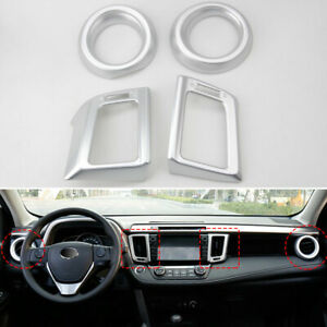 Fit For 2013-2018 Toyota RAV4 Front Air Vent Outlet Cover Trim Dashboard Frame