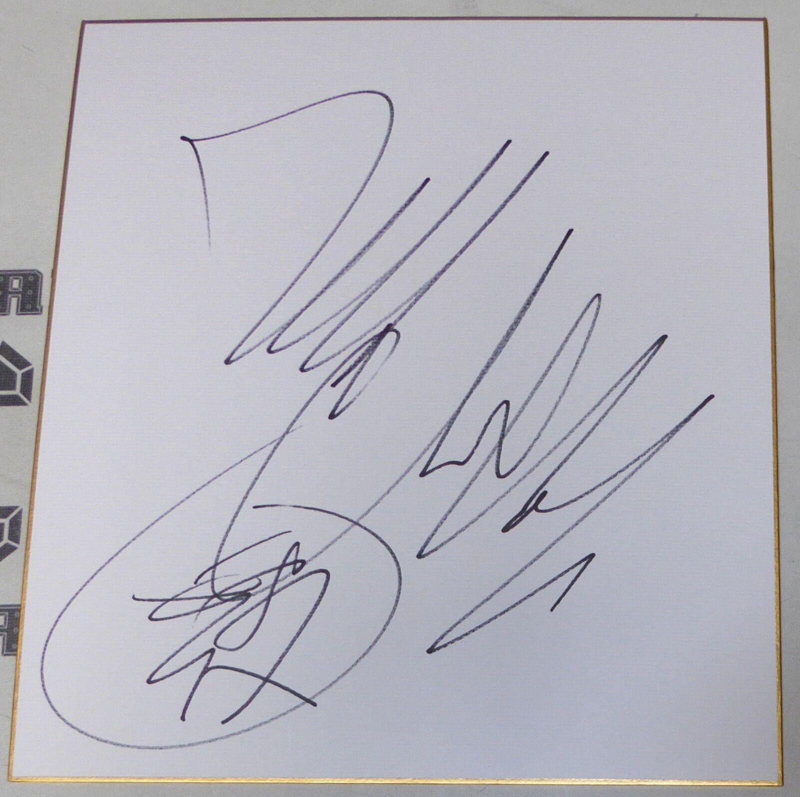 Ryo Chonan Firmado Shikishi Japonés Japonés Japonés Art Board PSA DNA COA UFC 78 88 Pride Auto ' ff9ef9