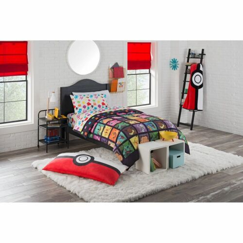 Pokemon Kanto Favorites 4 Piece Twin Bed in a Bag Bedding Set Polyester Twin