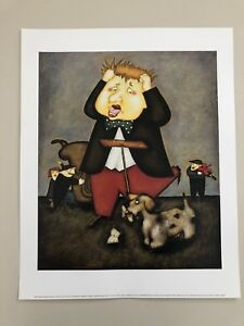 STEVEN-LAMB-039-ANOTHER-PAVAROTTI-AND-FRIENDS-2001-039-AUTHENTIC-2001-ART-PRINT