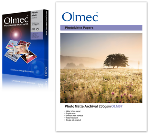 2 x Olmec 260gsm Photo Satin Inkjet Paper A4//50 Sheets OLM61A4-100 sheets A4