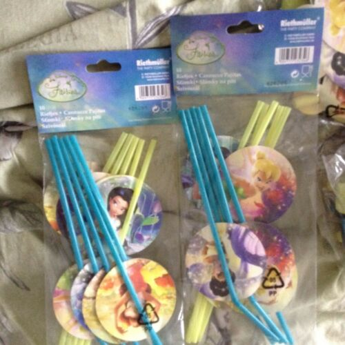 Details about  /Disney Fairy Princess FAIRIES PACK OF 12 PARTY BLOWERS /& 20 DRINKING STRAWS BNIB