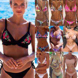 8354e59d768 2018 Fashion Sexy Women Bikini Push-up Padded Bra Swimsuit Swimwear ...