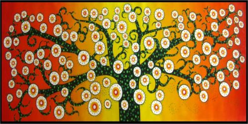Massive Tree flower Life aboriginal art painting Australia landscape