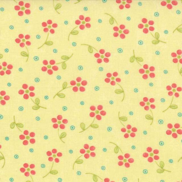 Chance of Flowers Priced Per ½ Yard Yellow Floral 17766-15 Sandy Gervias