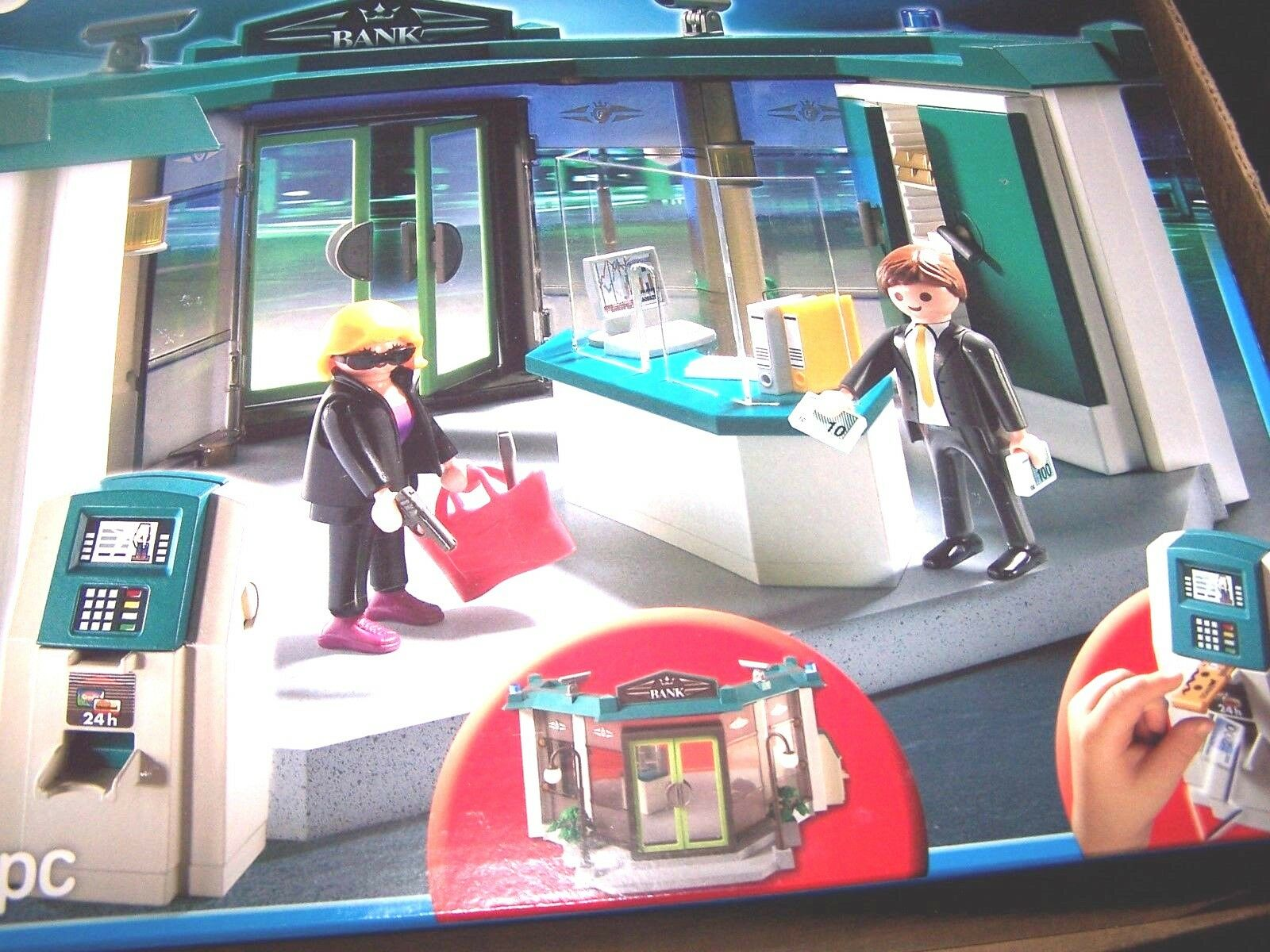 NEW NIB Sealed Playmobil Playmobil Playmobil 5177 Bank with Safe and gold Bars Money ATM aafcae