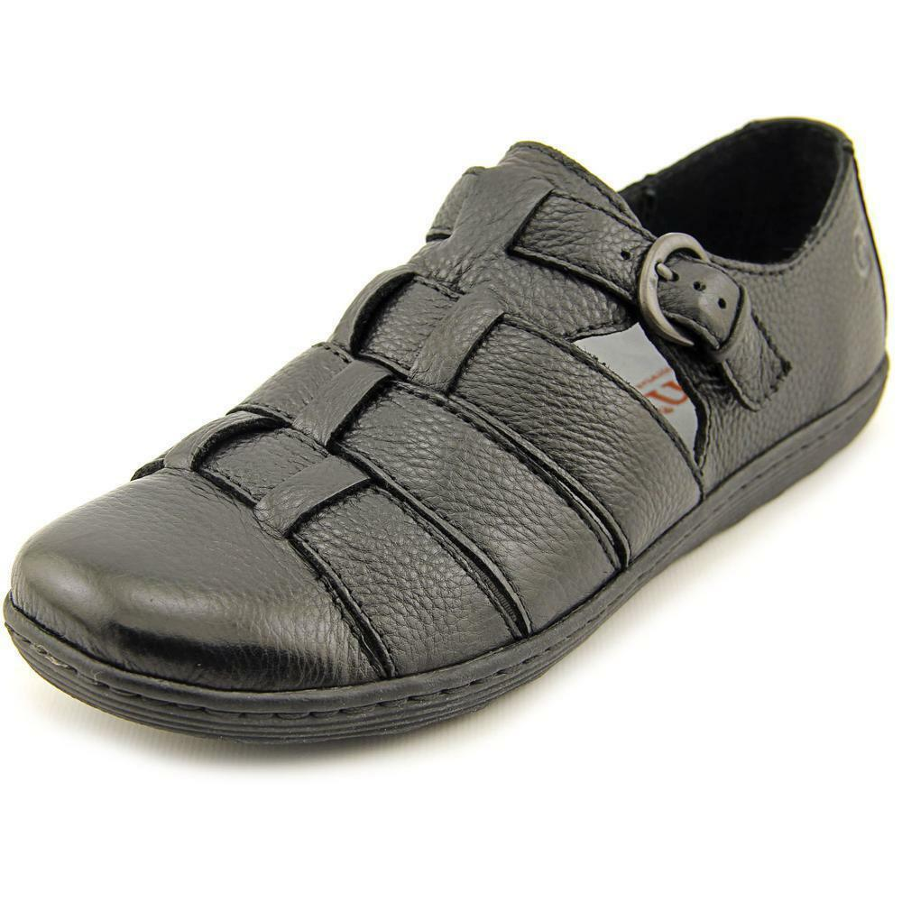 NIB Born Marit Fisherman Sandal Loafer Flat shoes Black D51903 Womens Sz 6.5-8 10