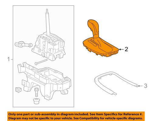 GM 20986268 2011 BUICK REGAL TRANSMISSION GEAR SHIFT KNOB SHIFTER HANDLE OEM
