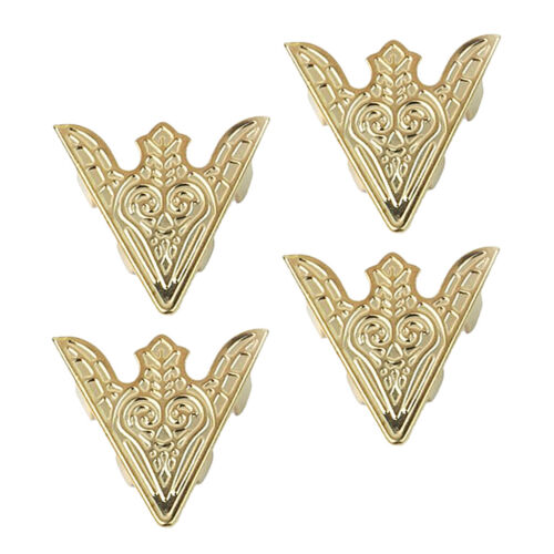 2 pairs Fashion Triangle Shirt Brooch Pin Collar Tip Jewelry for Men Women
