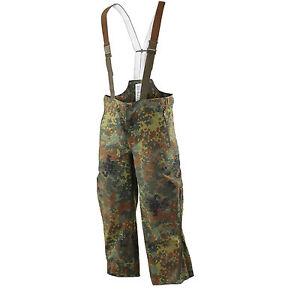 Nuevo-BW-Aleman-De-Combate-Del-Ejercito-Flecktarn-Goretex-Babero-Impermeable-Y-Pantalones-Brace