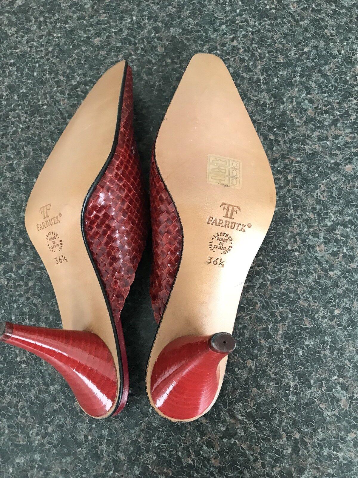 Farrutx Sandaletten in Gr. Neu 36 1/2 Rot Leder Neu Gr. b62d16