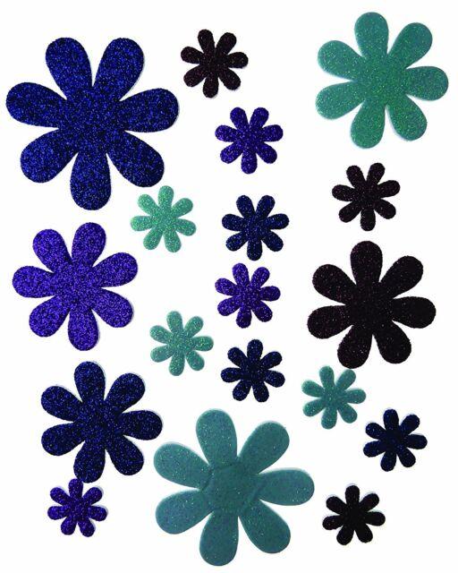 Craftime Boutique Auto-Adhésif Fleurs Sont Idéal pour Papier Craft Projet, Bleu