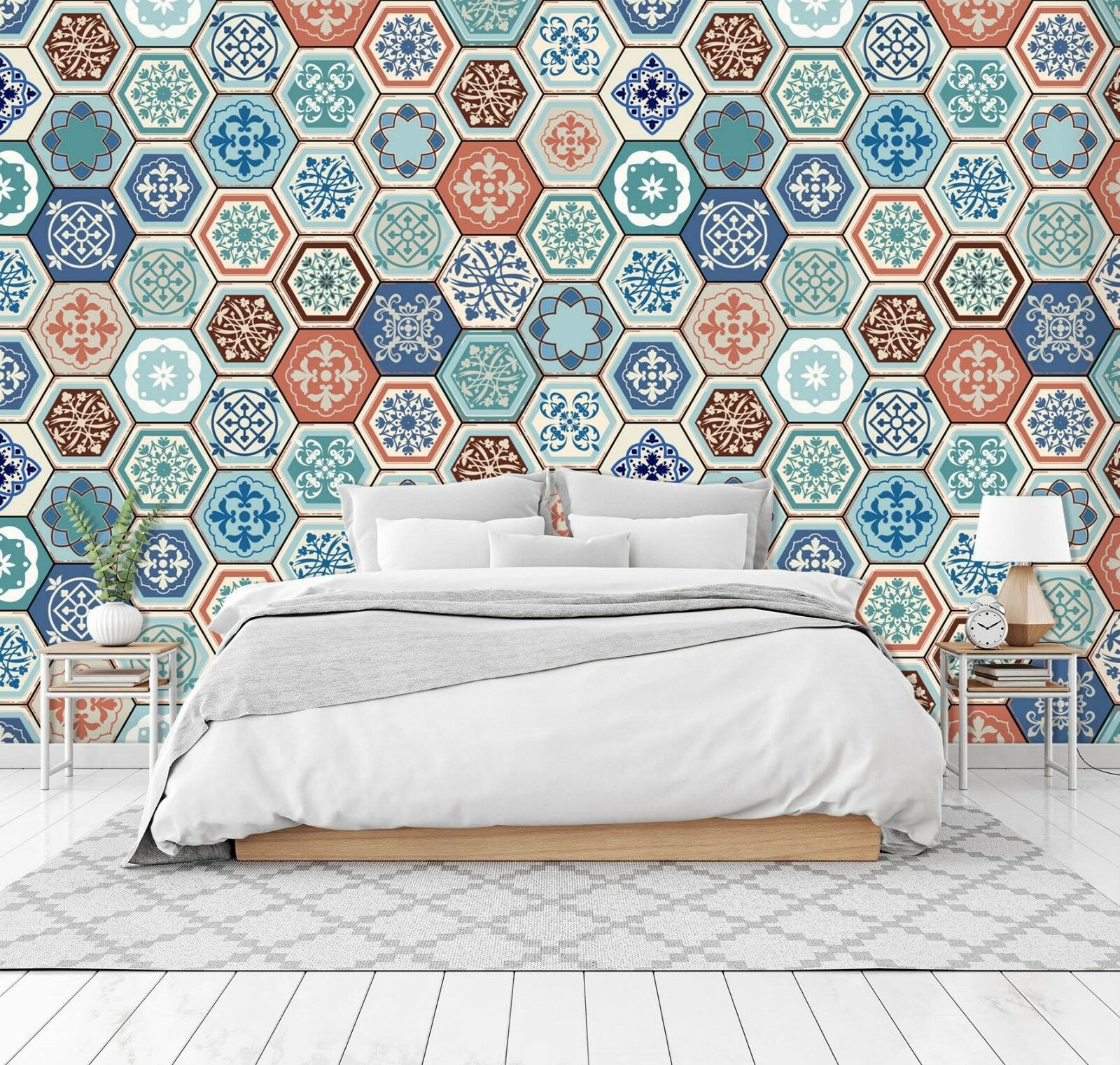 3D Pattern Blau 7018 Wall Paper Print Wall Decal Deco Indoor Wall Murals US