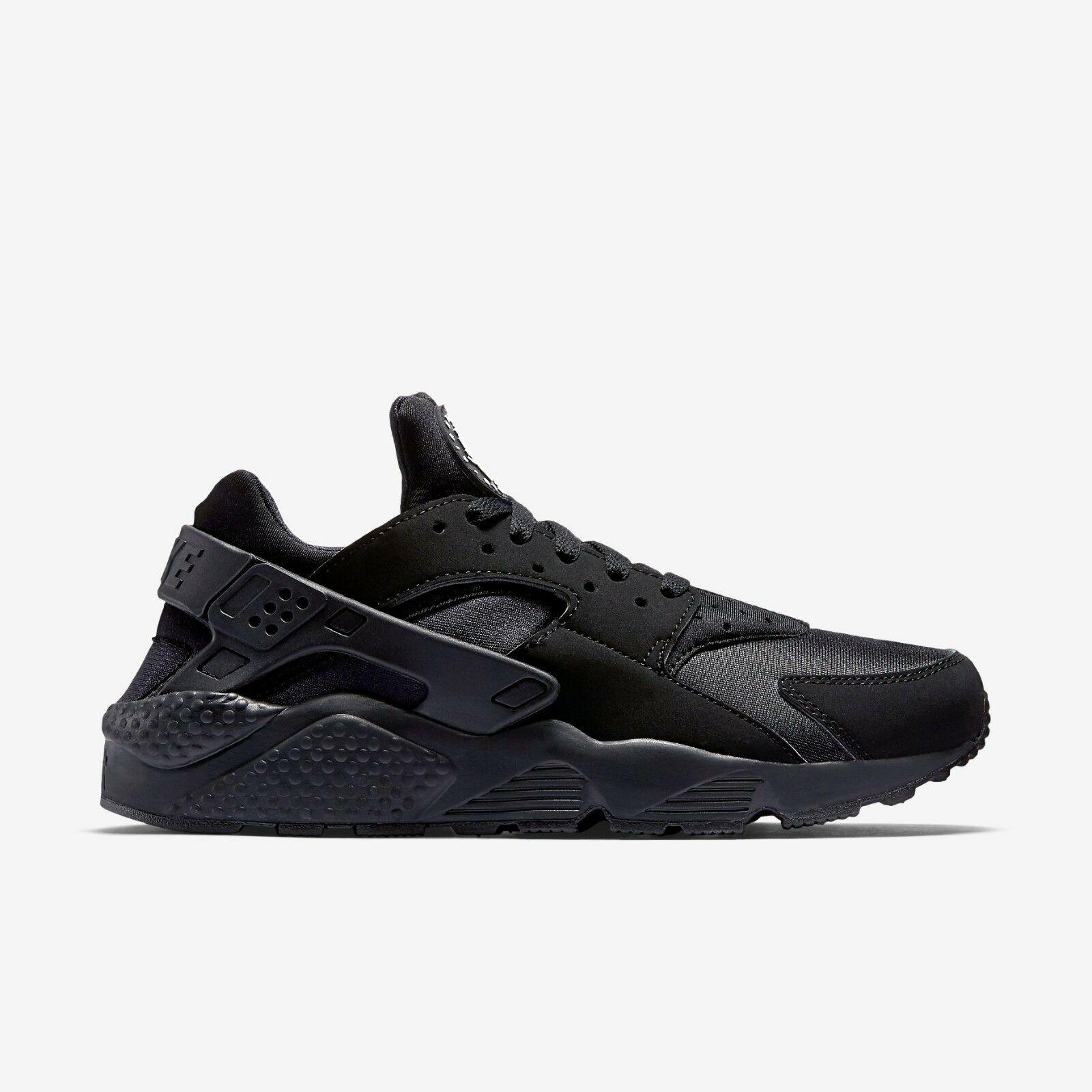 New Nike Men's Air Huarache Running shoes (318429-003)  Black   White-Black