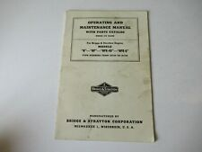 Briggs Amp Stratton N Np Npr Engine Operators Instruction Service Manual With Parts