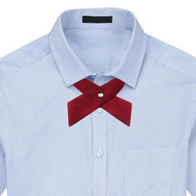 Men Women Adjustable Wedding Cross Collar Bow Tie Unisex Uniform Party Bowtie FI