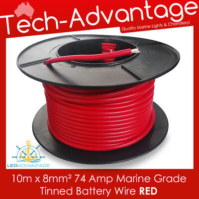 5m X 32mm RED 188AMP MARINE ANCHOR WINCH HEAVY-DUTY BATTERY TINNED COPPER WIRE