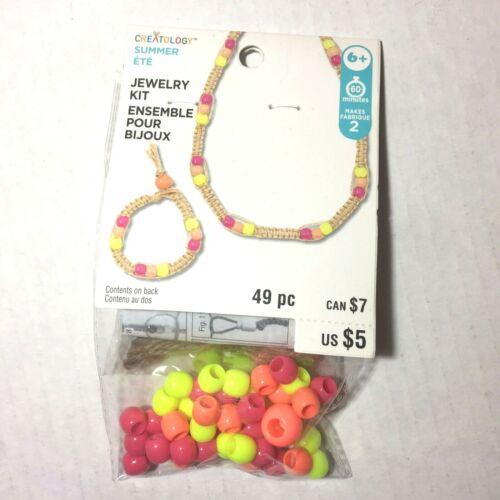 Kids Jewelry Kit Beads Necklace Bracelet DIY Crafts by Creatology Lot of 6 Packs