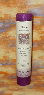 Healing Pillar Candle Crystal Journey NEW Herbal Energy Charged Healing Magic