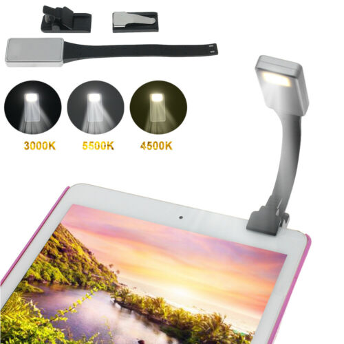 New USB Rechargeable Portable Travel LED Clip Book Reading Light Lamp For Kindle