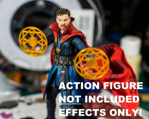 Dr Strange Orange Spell Shields Set of 2 1//12 EFFECT ONLY Marvel Legends