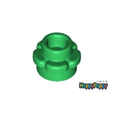 Lego 10x Platte Blume 1x1 Grün Green Plate Flower Edge 24866 Neuware New