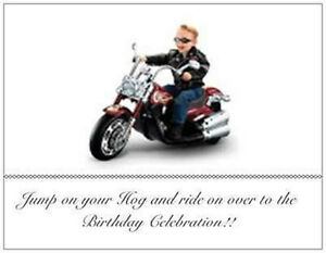 20 birthday motorcycle invitations post cards harley davidson kidad image is loading 20 birthday motorcycle invitations post cards harley davidson filmwisefo Image collections