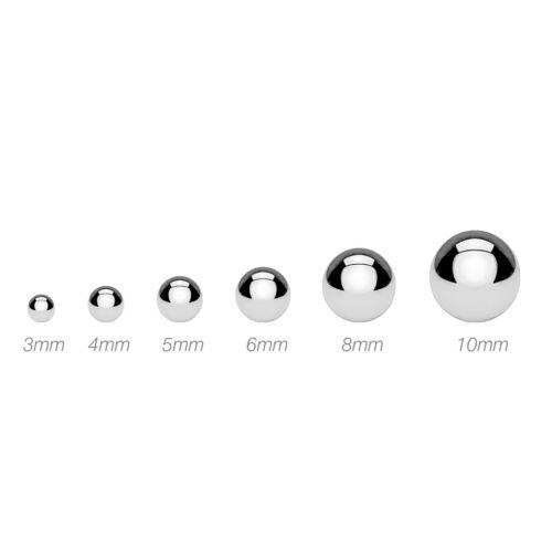 Piercing pour Lèvres Labret Bioflex Blanc 5 en Jeu Ptfe Flexible Plastique