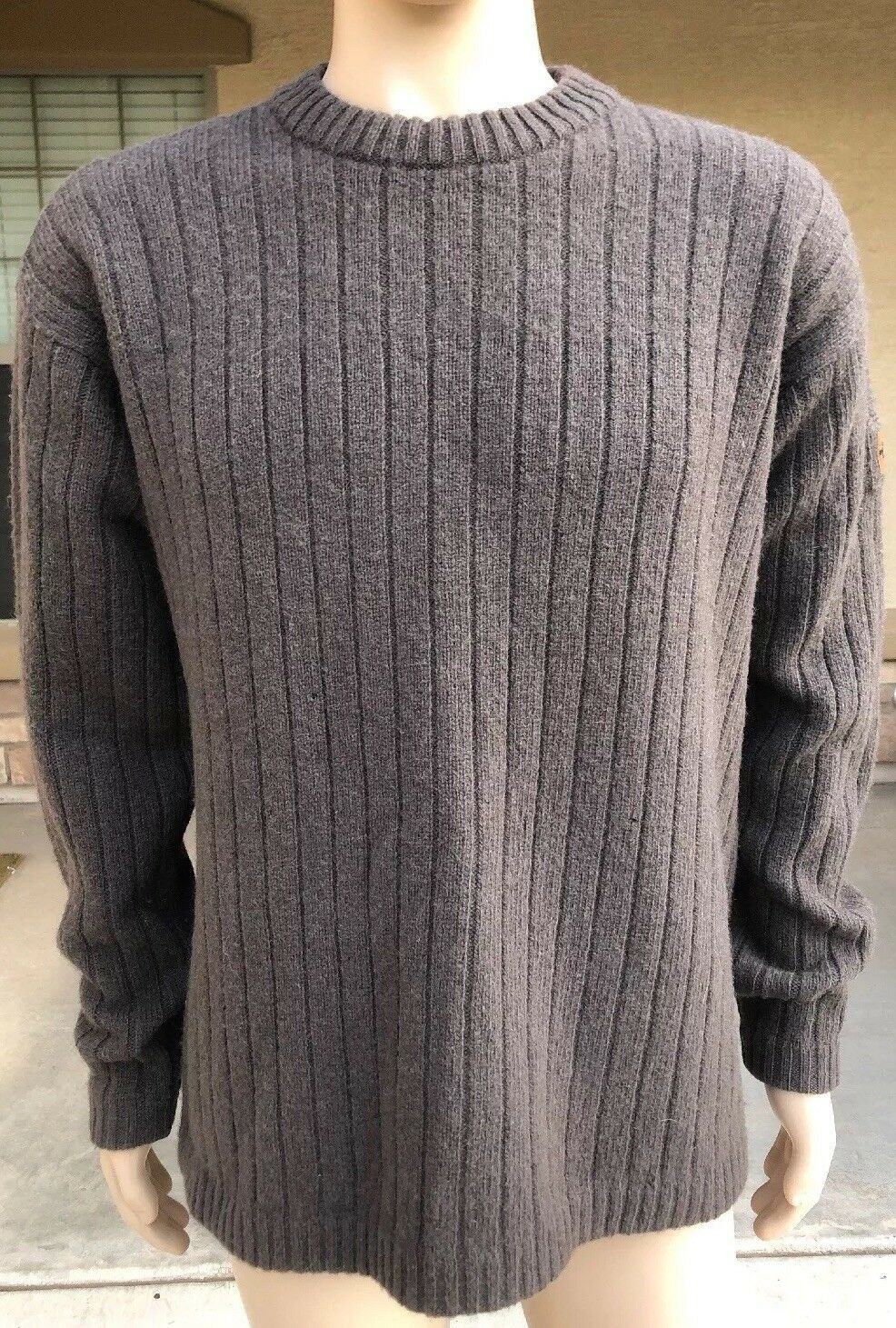 Vintage The North Face TNF 100% Wool Sweater Men's Größe Large Hong Kong Made