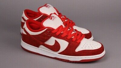 best sneakers 91d28 3e264 2014 Nike Dunk Low Premium SB VALENTINE'S DAY UNIVERSITY RED WHITE  313170-662 12 | eBay