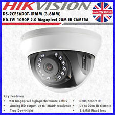 HIKVISION DS-2CE56D0T-IRMM 3.6MM 2MP HD-TVI 1080p 20M IR INDOOR DOME CAMERA
