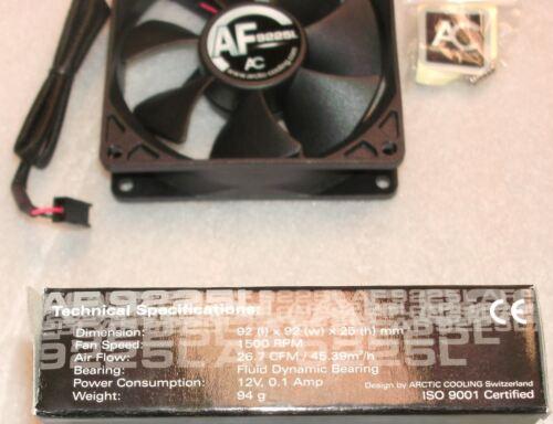 1500 RPM ISO9001 Certified PC Computer Fan 12V 9225L 92x92x25mm 0.1A 3-Pin
