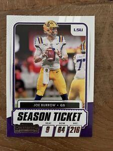 2021 Panini Contenders Joe Burrow NFL Trading Card