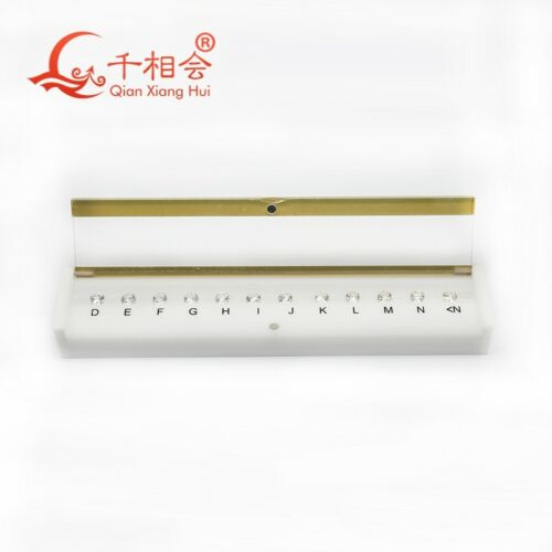 D-N 12 color Grade tester  tool with Laser 1CT 6.5MM  cubic zirconia stone