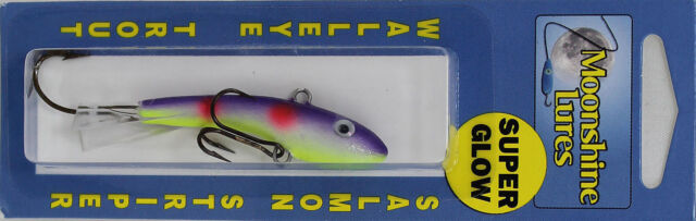 "MOONSHINE LURES SHIVER MINNOW SIZE #2 2-3/4"" 1/2 oz - J J MAC MUFFIN"
