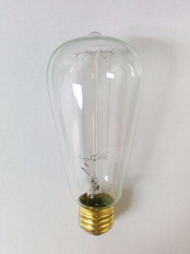 4 pack Simple Vintage ST64 Edison Light Bulb E26 60W Squirrel Cage Retro Clear