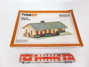Cg92-0-5-Tyco-h0-7761-Kit-Arlee-Station-Gare-ungebaut-Neuw-neuf-dans-sa-boite