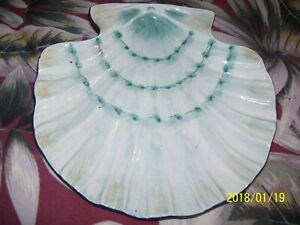 Jennifer-Brinley-Turquoise-Scallop-Seashell-Decor-Plate-Certified-International