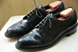 E-T-Wright-Black-Calfskin-Longwing-Shoes-US10-5-D-Allen-Edmonds-Alden
