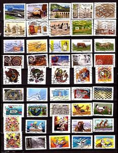 ZY1315FRANCE-100-Timbres-usages-courants-sujets-divers-tous-differents