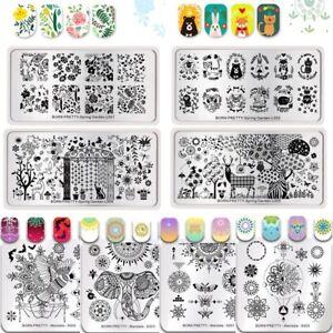 BORN-PRETTY-Nail-Art-Stamping-Plates-Mandala-Spring-Garden-Image-Stamp-Templates
