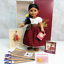 thumbnail 6 - American Girl Pleasant Company DOLL JOSEFINA In Meet Outfit Necklace Coin BOX +