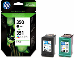 ORIGINAL-GENUINE-TWINPACK-HP-351-COLOUR-amp-350-BLACK-2YEAR-GUARANTEE-FAST-POSTAGE