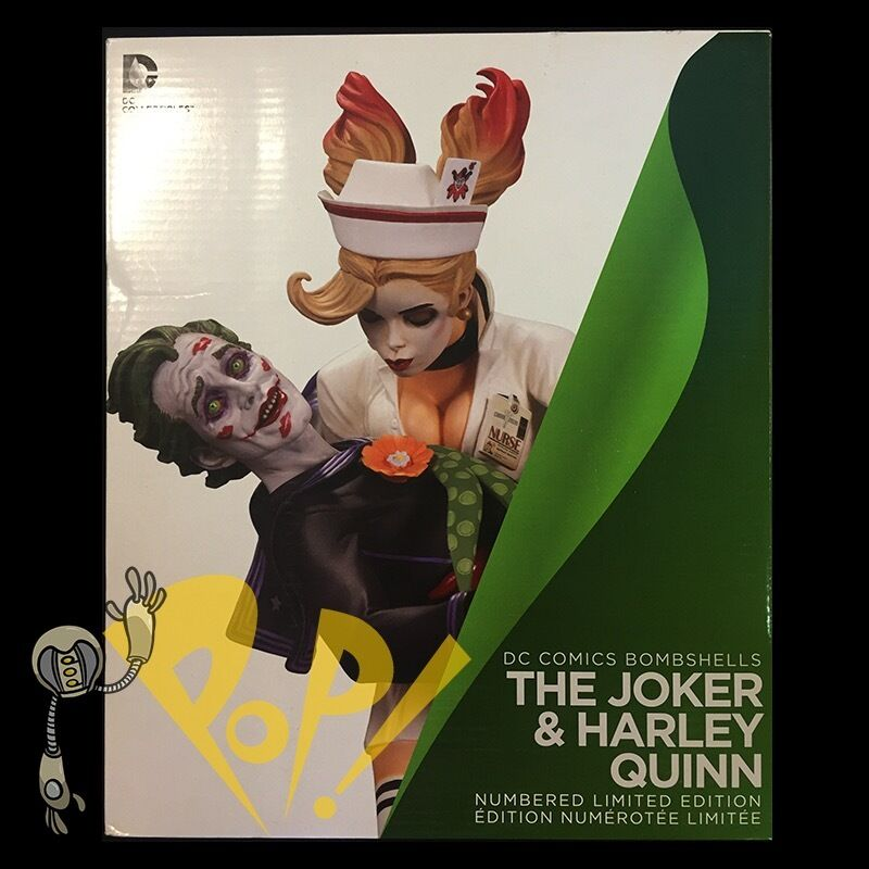 Bombshells HARLEY QUINN & JOKER Statue DC Collectibles NUMBErot 1st Edition