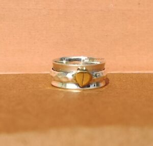 925-Sterling-Silver-Spinner-Ring-Meditation-Statement-Handmade-Jewelry-A149