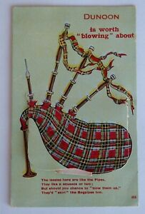 Vintage-Coloured-Postcard-NOVELTY-PULL-OUT-from-DUNOON-Scotland-1914