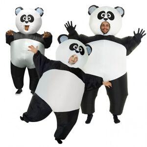 das bild wird geladen aufblasbares panda kostuem fuer erwachsene oder kinder witzig