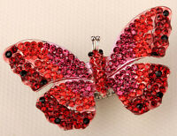 Butterfly Stretch Ring Cute Bling Scarf Jewelry Gift Red Dropshipping 12