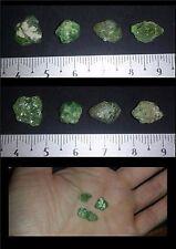 Lot de 4 Grenat Démantoide 13,80ct minéraux / lithothérapie /Madagascar/ Garnet