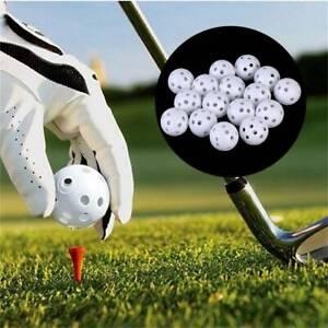 10X-41mm-Golf-Training-Balls-Plastic-Airflow-Hollow-with-Hole-Golf-Balls-AU